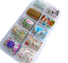 Holographic Flower Design Colorful Nail Foil (10colors) Decoration Floral Transfer Sticker Decal/ DIY Starry