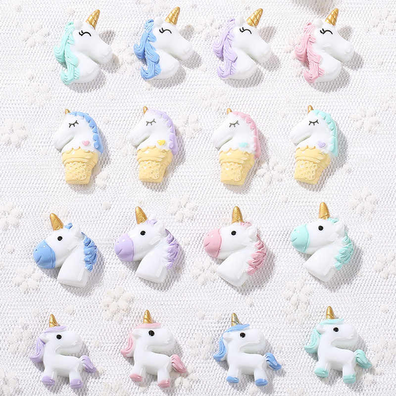 16pcs many styles unicorn charms  Unicorn Jewelry necklace pendant keychain charms for DIY decoration