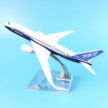 Avião de passageiros do ar 16cm boeing 787 aeronaves modelo simulação avião 16cm liga brinquedos natal presentes crianças