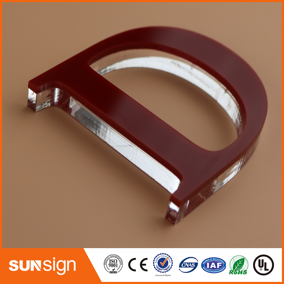 Sunsign Built up acrylic letters non illuminated signs