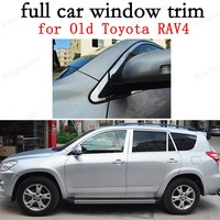 Car Exterior Accessories full Window Trim Decoration Strips for Toyota RAV4 09 13Stainless Steel with center pillar