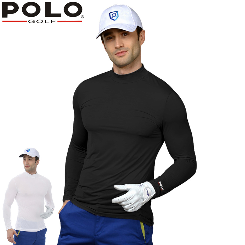 POLO Mens Spring Autumn Golf Apparel Workout Shirt, GOLF Mens style shirts men long sleeve Shirt men Fitted DriFit Shirt