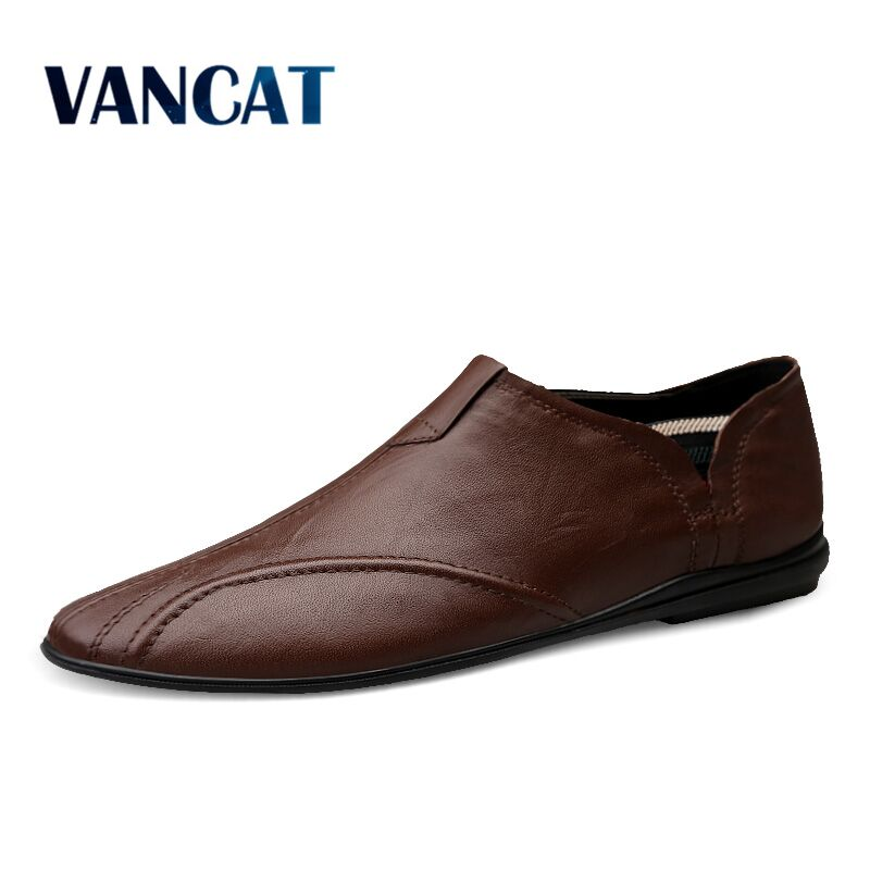 Men Shoes Genuine Leather Comfortable Men Casual Shoes Footwear Chaussures Flats For Men Slip On Lazy Shoes Zapatos Hombre