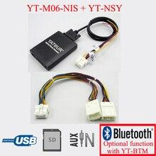 Yatour автомобиль цифровой MP3 адаптер USB SD AUX играть для Nissan Infiniti с системой навигации
