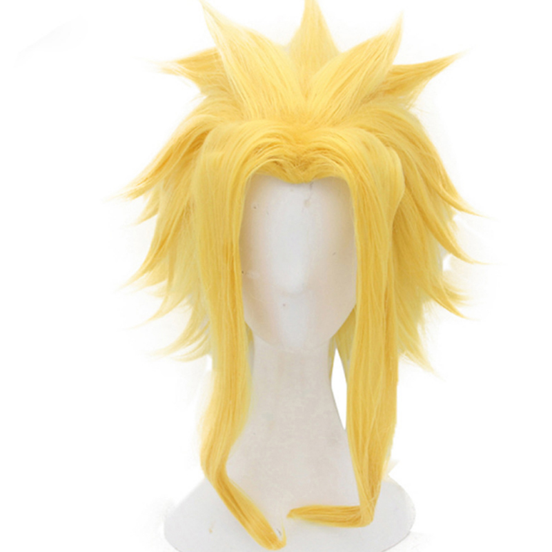 My Hero Academia Boku no Hero Academia All Might Short Golden Synthetic Heat Resistant Cosplay Hair Wig