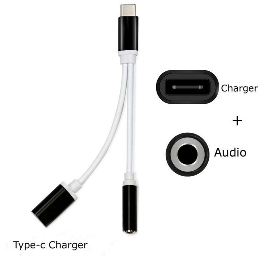USB Type-C To 3.5mm Jack AUX Headphone Audio Splitter Converter Adapter Cable High Speed Certified Cell Phone Music Accessories