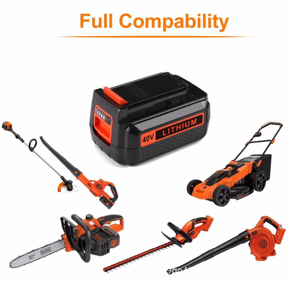 For Black & Decker 40V 4500mAh Li-ion Rechargeable Power Tool Battery LBXR36 BL2036 LBX2040 LST136,LST420,LST220 L10For Black & Decker 40V 4500mAh Li-ion Rechargeable Power Tool Battery LBXR36 BL2036 LBX2040 LST136,LST420,LST220 L10