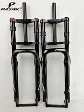 """כפול כתף שומן אופני השעיה מזלג שומן אופניים 26 """"4.0"""" אוויר מזלג MTB Moutain 26 אינץ קרוזר מזלג 135mm מגנזיום סגסוגת"""