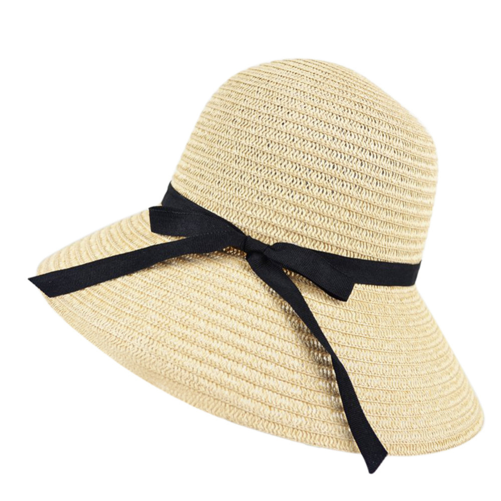Straw Hat Women Wide Brim Summer Beach Sun Straw Hat Floppy Elegant Bohemia Cap Straw Hats For Women Fashion Foldable Straw Hats wide brim straw hat