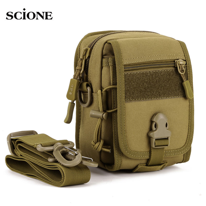 Waterproof Molle Tactical Pouch Bags Organizer EDC Waist Belt Bag Military Army Shoulder Strap Nylon Camping Small Pack XA582WA