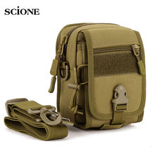 Waterproof Molle Tactical Pouch Bags Organizer EDC Waist Belt Bag Military Army Shoulder Strap Nylon Camping Small Pack XA582WA(China)