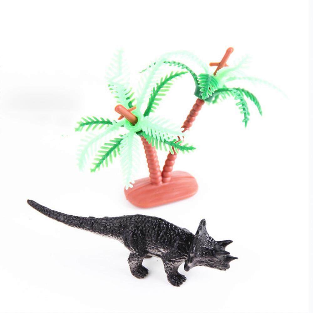 12pcs/lot Children Favourite Gifts Simulation Bottled Modeling Toys Decorations Plastic Dinosaur Set for Party Toys
