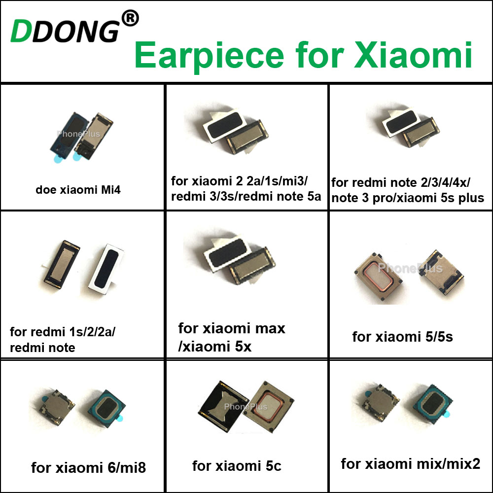 Earpiece Ear Speaker Earphone Receiver For Xiaomi 5s Plus Mi3 Mi5 Mi6 Mi8 4 2a For Redmi Note2/3/4 For Xiaomi Max Mix Mix2