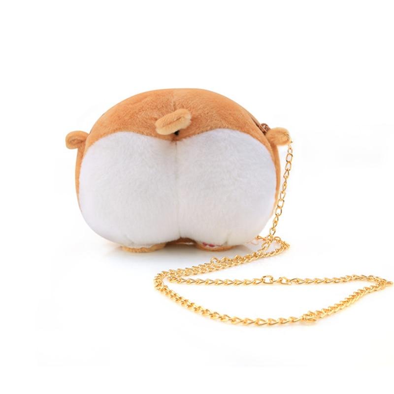 Cute Pet Dog Plush Cross Body font b Bag b font Chibi Corgi Butt font b