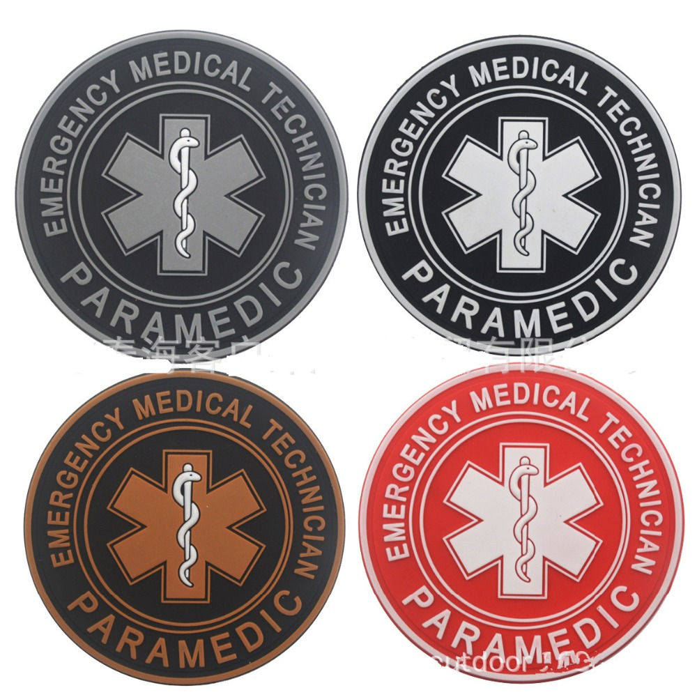 Entertainment Memorabilia Reflective Medic Multicolor Cross Medical Rescue Emt Ir Patches Army Badge Tactical Military Patches Pvc Glow In Dark Badges