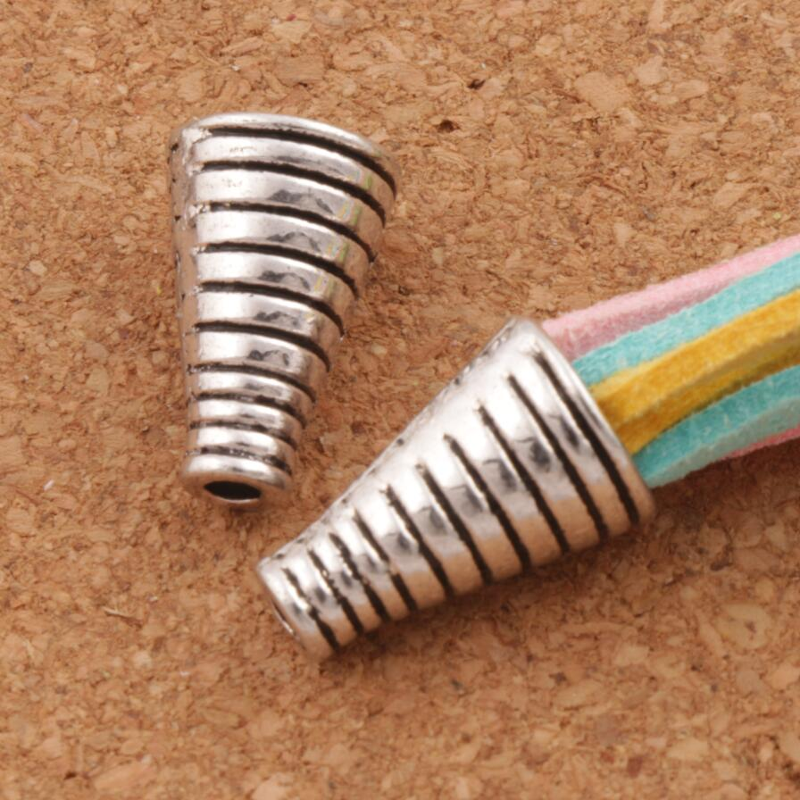 Screw Cone End Caps Bead Cap 10.2x10.1mm 100pcs Antique Silver Jewelry Findings Components L1092