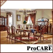 Европейский королевский Прямоугольный Обеденный Стол для кухни, обеденный стол для бассейна, деревянный обеденный стол и стулья