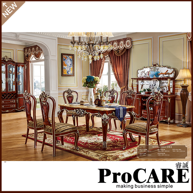00aa9afd95 Europe royal rectangle dining room kitchen room dining pool table extend  wooden dining table and chairs-in Dining Room Sets from Furniture on  Aliexpress.com ...