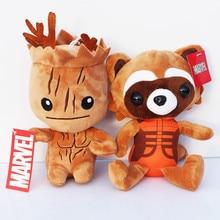 8 20cm Guardians Galaxy Plush Doll font b Toys b font Tree People Rocket Raccoon Plush