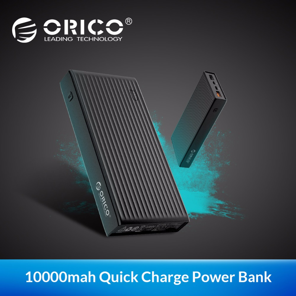 ORICO QC3.0 Power Bank 20000 mah BC1.2 Type-C Two-way Quick Charge 18W Max Output For Moblie Phone
