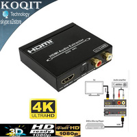 HDV M903U 1080P HD 4K HDMI Audio Extractor HDMI to HDMI Toslink SPDIF 5.1ch + L/R with EDID Support ARC Functions Converter