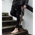 New hot Fashion 30-36 Hip Hop kanye designer hole pants Mens skinny ripped distressed black white denim biker jeans Men