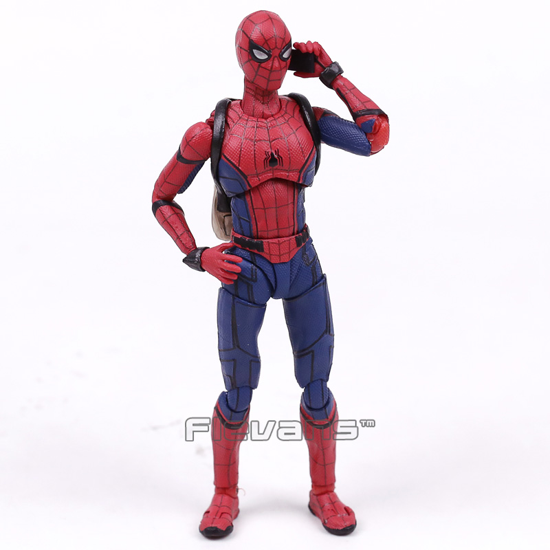 SHFiguarts Spider Man Homecoming The Spiderman PVC Action Figure Collectible Model Toy 14cm shfiguarts naruto uchiha itachi moloing and movable pvc action figure collectible model toy 16cm