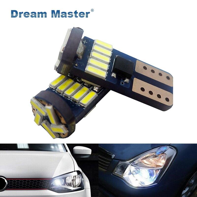 10-50PCS T10 501 W5W Car Side Light Bulbs Interior 12V 5W 194 168 158 Wholesale