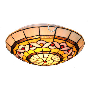 "12"" American Antique Tiffany Stained Glass Ceiling Lamp Light 2 Lights Children's Room Kitchen Home Decor Fixture Lighting CL286