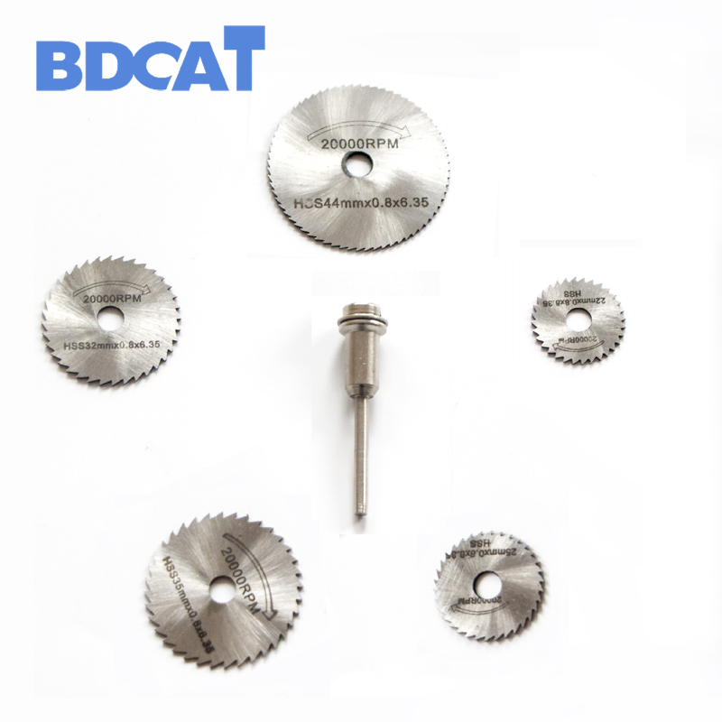 6Pcs HSS Rotary Tools Circular Saw Blades Cutting Discs Mandrel Cut off Cutter jigsaw blade dremel hand tools Accessories blades cutting machine blade tape double sided adhesive circular knife cutting blade