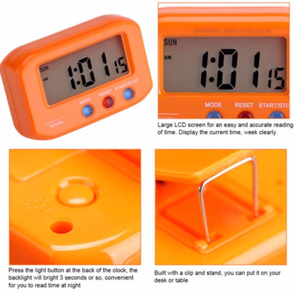73a5b39401c Tamanho de Bolso portátil de Viagem Eletrônico Digital Alarme Cronômetro  LCD Relógio Com Snooze Backlight Relógio Eletrônico Automotivo em  Despertadores de ...