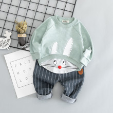 Cotton Autumn Active Casual Cartoon Kid Suit Toddler Set Baby Clothing Boys Girl Clothes 4Y
