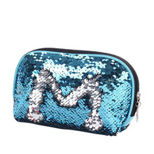 Cosmetic Bag Mermaid Sequin Pencil Case Makeup Bag Coin Pouch Storage Zipper Purse makeup bags and cases travel toiletry bag(China)