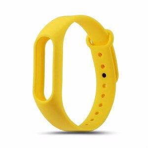 Image 4 - 1 個 mi band2 交換リストバンドストラップソフトシリコーンの腕時計のブレスレットシャオ mi mi バンド 2 ストラップ黒緑 orange 赤