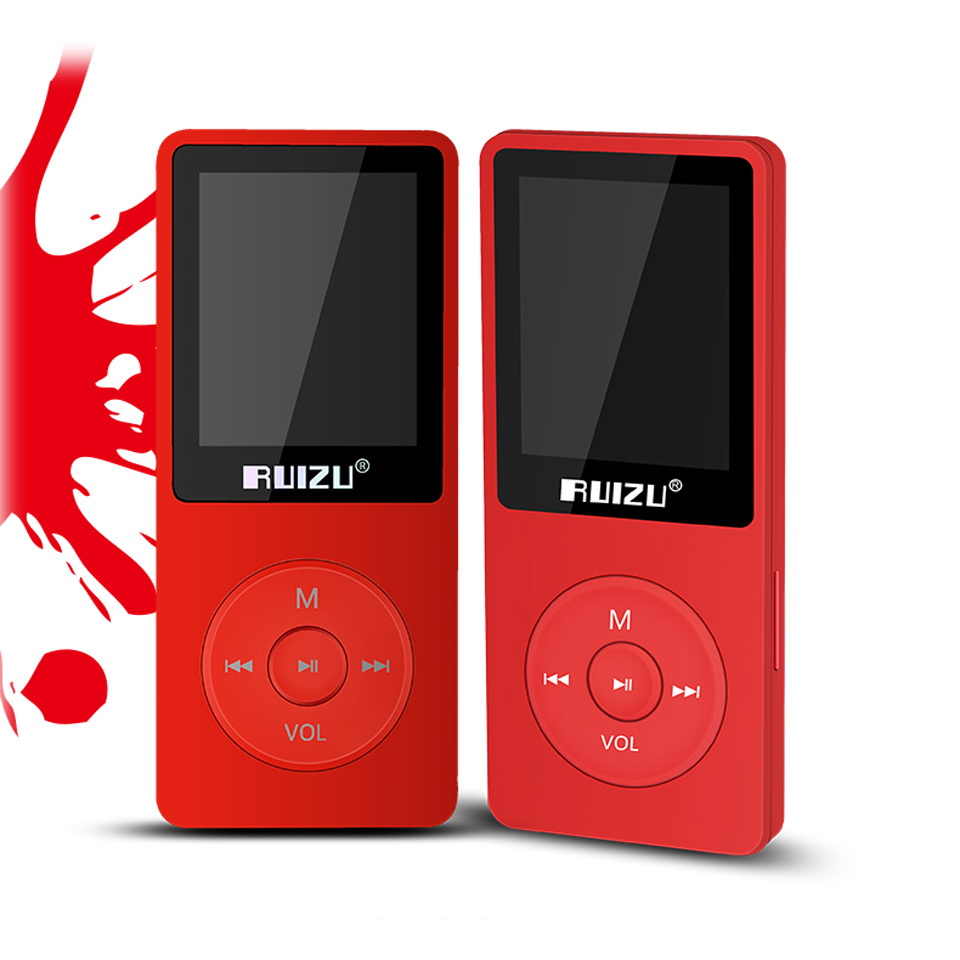 RUIZU X02 MP3 Player 4G/8G/16G Lossless Portable Mp3 With 1.8 Inch Screen Can Play 80 hours With FM,E-Book,Clock,Voice Recorder