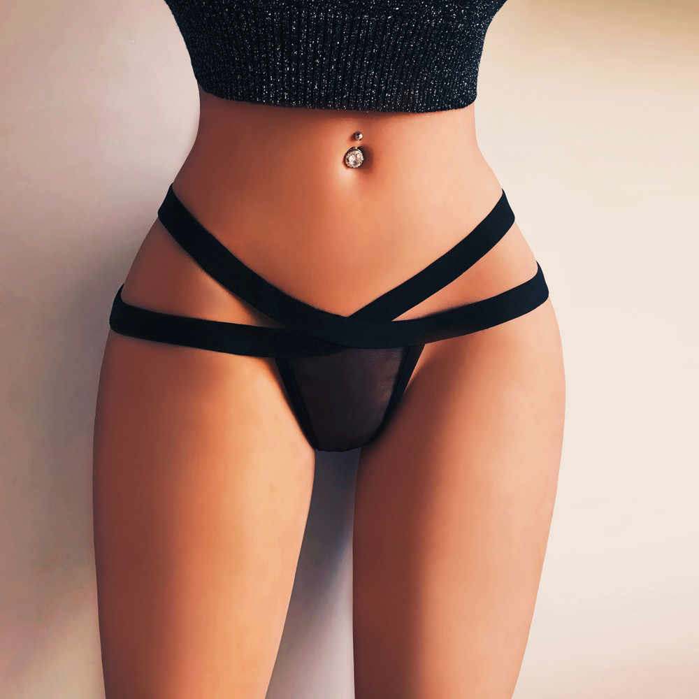 Baru Wanita Sexy Lingerie G-string Mesh Celana Dalam Pakaian Dalam Celana Dalam T String Tali Knick Fashion 2019