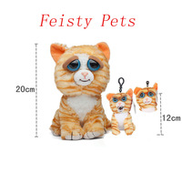 Feisty Pets Change Face Prinecess Pottymouth Soft Plush Stuffed Mini Keychain Backpack Set Free Shipping