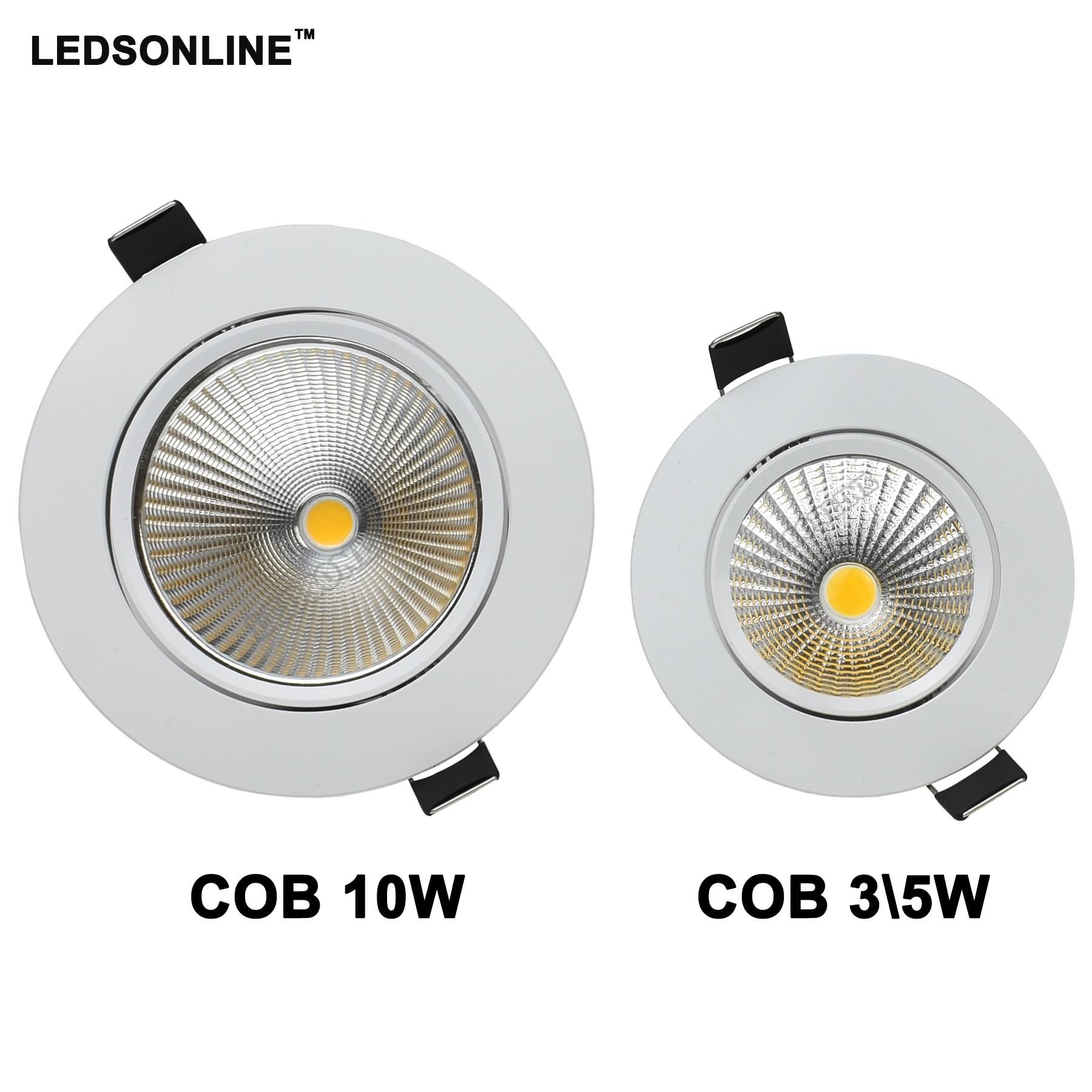 LED-Downlight-COB-5-Watt-10-Watt-D3-54in-4-33in-Einbauleuchte-punktlicht-Decke-Runde-Lampen Spannende Led Lampen 10 Watt Dekorationen