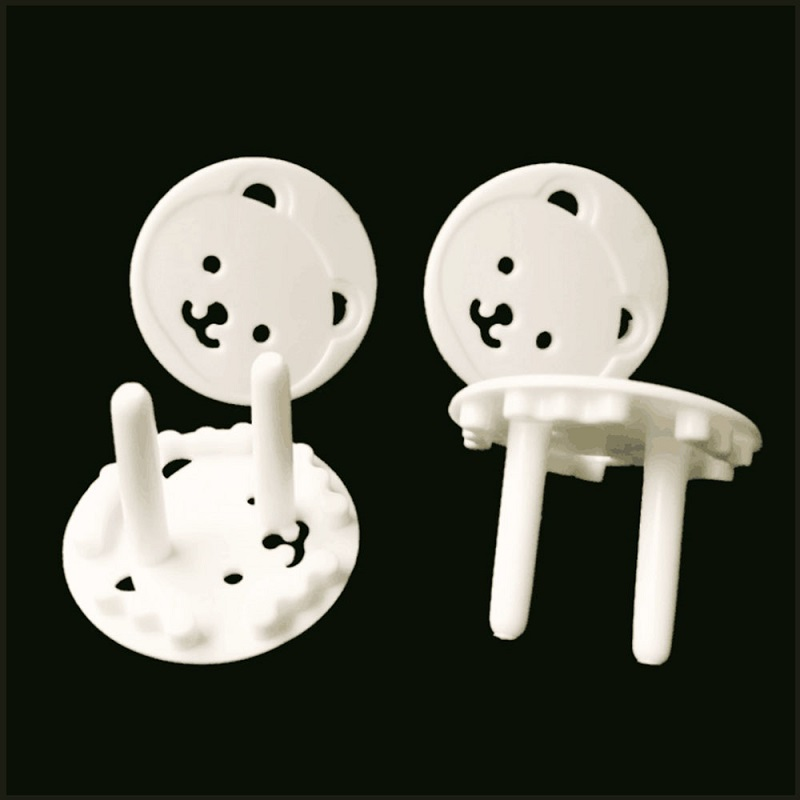 1pcs EU Stand Power Socket Cover Bear Shape Electrical Outlet Baby Safety Anti Electric Shock Plugs Protector Rotate Cover J11