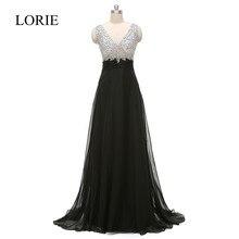 Sheer Illusion Schwarze Lomg Prom Kleider 2016 V Neck Kristalle Atemberaubende Pageant Kleider Für Frauen Abendkleider Party Kleider
