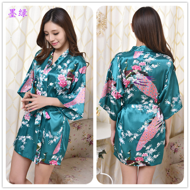 Black Long Silk Robe Wholesale Satin Robes Fashion Female Robe Faux Silk  Satin Kimono Robe Free 00668745e