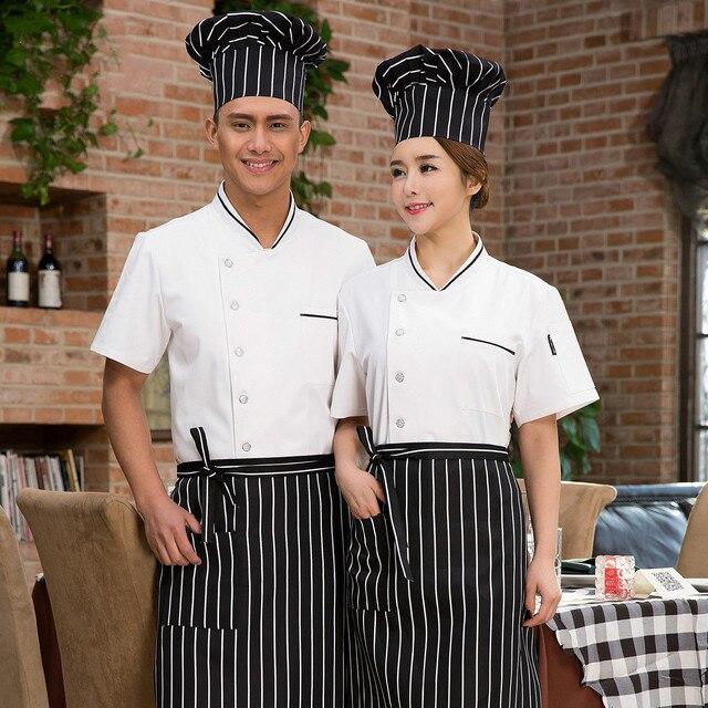 Musim Panas Dapur Chef Jaket Mantel Rok Workwear Seragam Memasak Pakaian Layanan Makanan Restoran Hotel