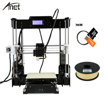DIY 2018 Best Sell Anet A8 and A8-L Diy 3d Printer Machine Products New Arrival 3d Printer Metal with Free Filament & Free Kits