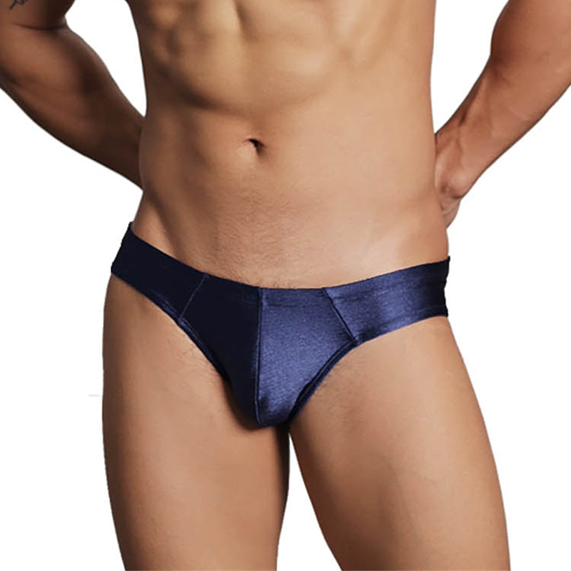 Sexy Men Underwear Men Briefs Silky High Elastic Underpants Mens Briefs Shine Bright Men Brief Bikini Underwear