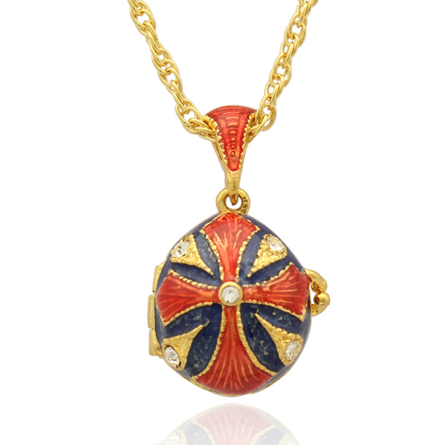 New classic red enamel crystal easter egg pendant necklace fit new classic red enamel crystal easter egg pendant necklace fit european luxury brands necklaces christmas negle Image collections