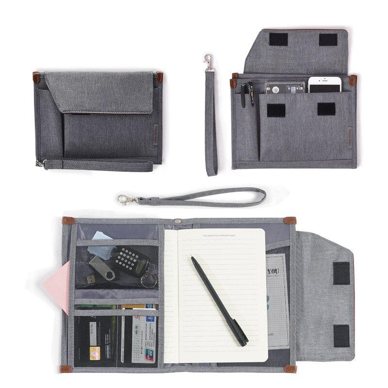 Men's Business Office Bag Women's Document Bag Waterproof Portable Oxford Notebook Pouch Passport Cover Accessories BA10