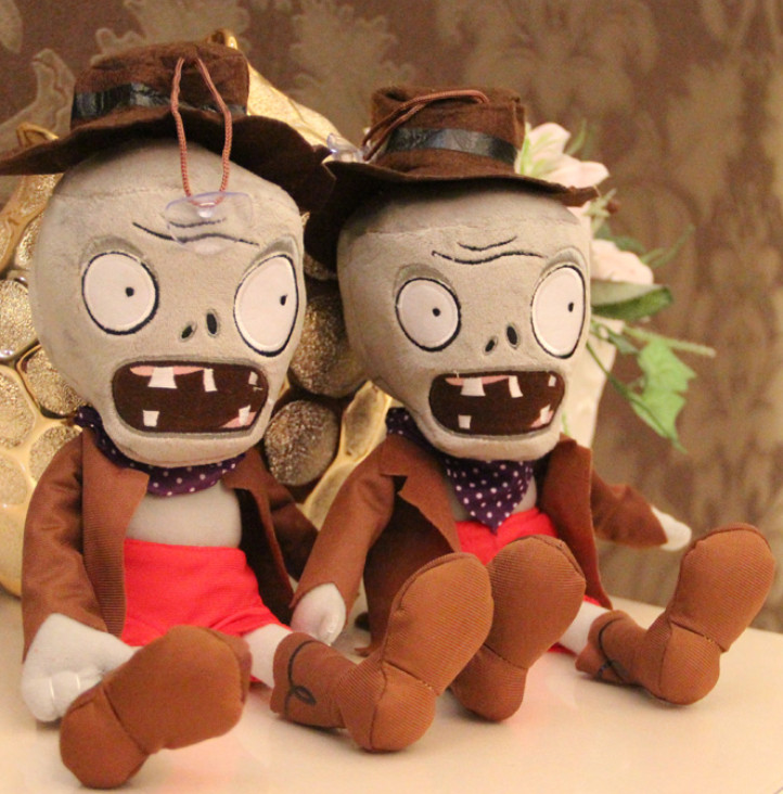 2017 New arrive hot sale Plants vs Zombies Plush Toys 30cm Zombies plush toy doll (hat zombie)