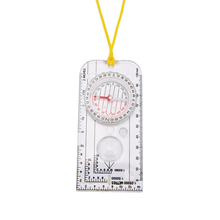1Pcs Army Scout Hiking Camping Boating Map Reading Orienteering Ruler For Magnifying Compass For Outdoor Sports kanpas basic competiton orienteering thumb compass free ship ma 40 fs from compass factory