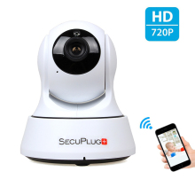 Indoor 720P HD Wi-Fi IP Camera for Baby Monitor with Two-way Audio/TF Card Slot/Night Vision Support Internal speaker