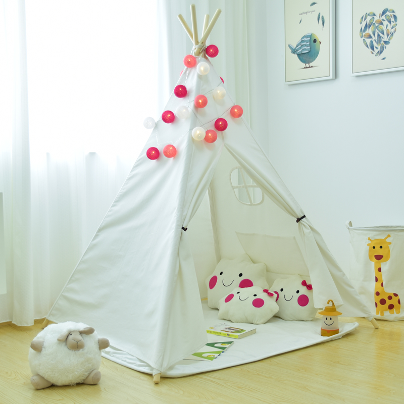Plain White Kids Teepee Play Tent Tipi Tent Teepee Tent for Kids Indian Tent Tee Pee free shipping kid tent indian teepee tents